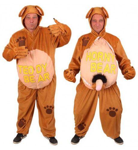 Hilarisch Kostuum Teddy / Horny Bear Man