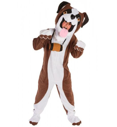 Dorstige Sint Bernard Hond Kostuum