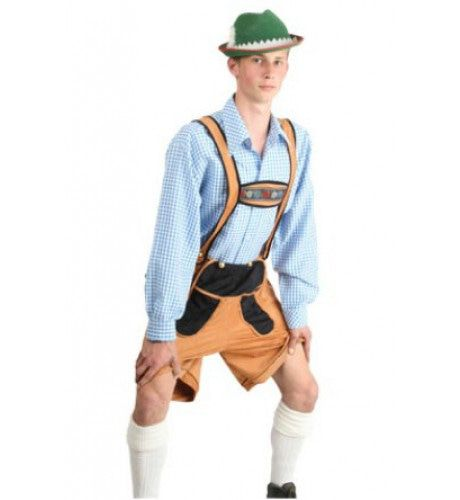 Oktoberfest Blouse Blauw / Wit Heinrich