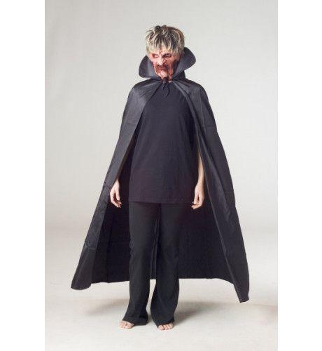 Draculacape Zwart Luxe Man Kostuum