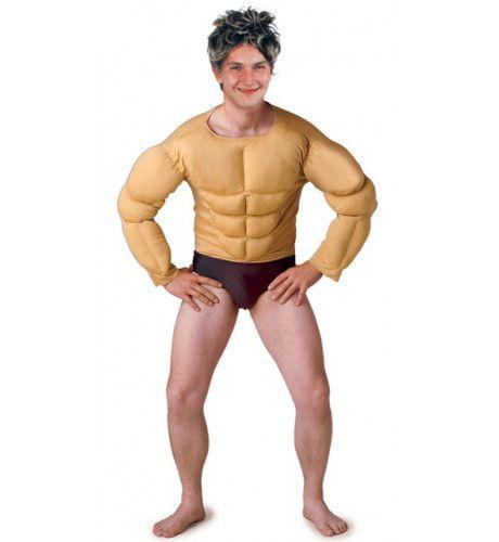 Body Builder Spierenshirt Man Kostuum