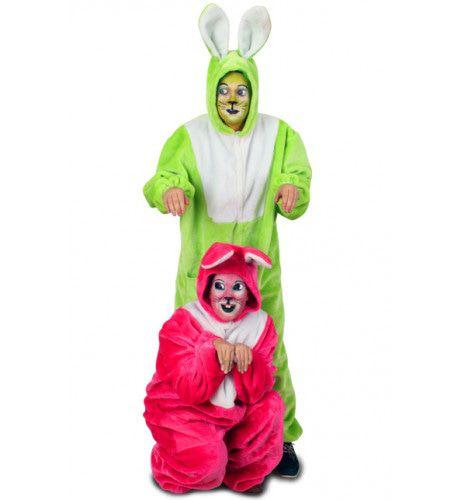 Pluche Neon Haas Roze Kostuum