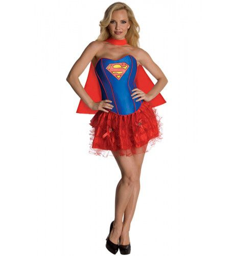 Supergirl Superkrachten Korset Vrouw Kostuum