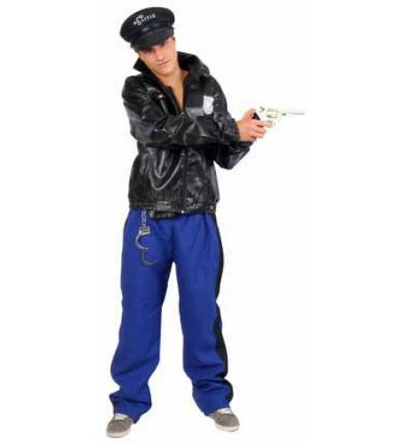 Kinky Village People Lederlook Agent Man Kostuum