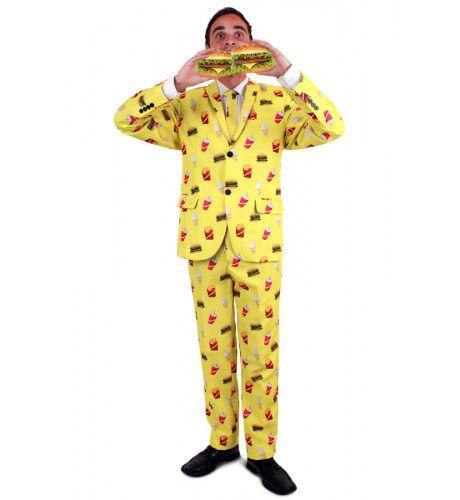 Fast Food Hamburger Milkshake Patat Friet Man Kostuum