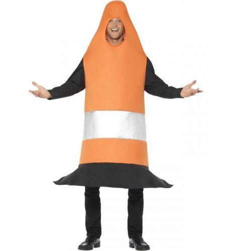 Oranje Pylon Verkeerskegel Kostuum