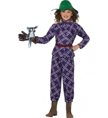 David Walliams Awful Auntie Tante Troela Meisje Kostuum