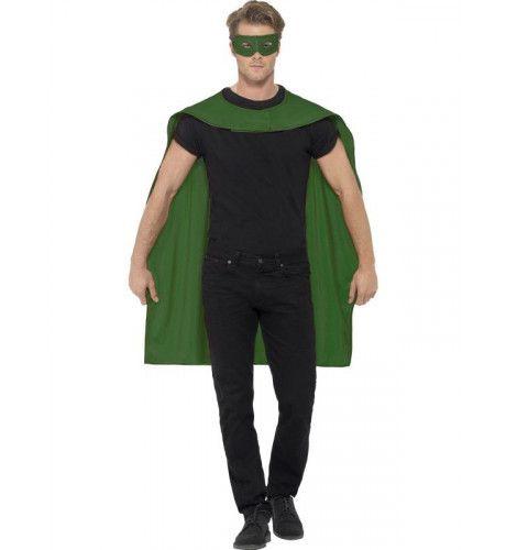 Groene Cape En Oogmasker Superheld