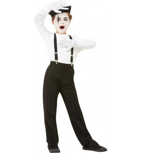 Mime Acteur Pierrot Set Vierdelig