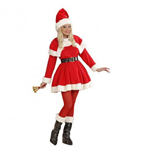 Luxe Uitvoering Kerstvrouw Santa Lady De Luxe Kostuum