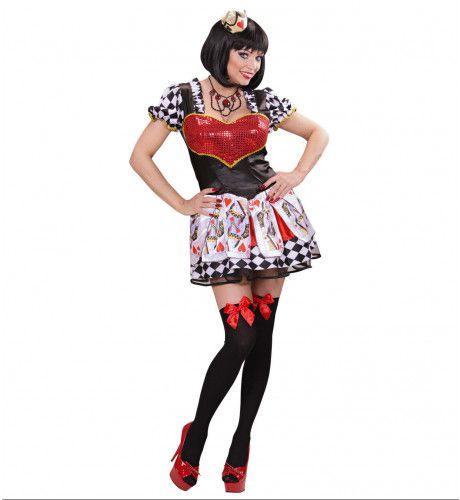 Hartenkoningin Queen Of Hearts Vrouw Kostuum