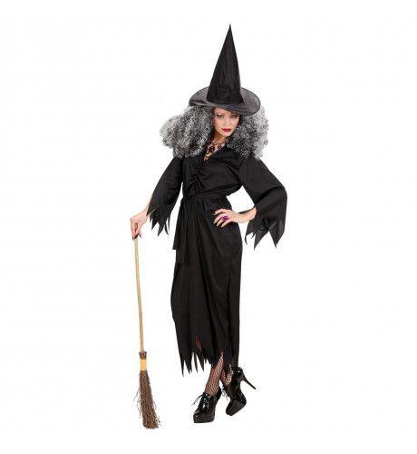 Theatrale Zwarte Heks Kostuum Vrouw