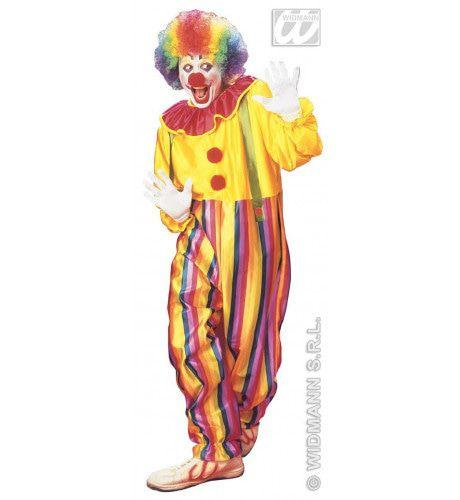 Funny Clown Circus Kostuum Man