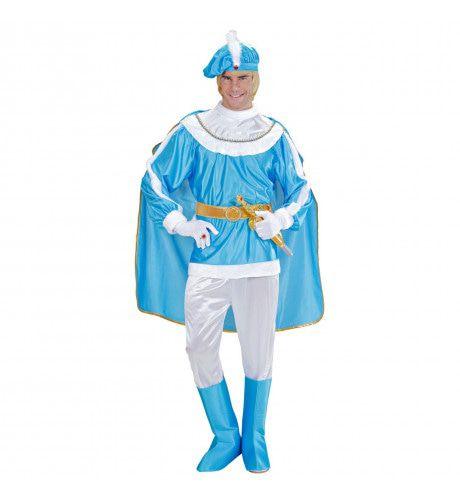 Bourgondische Blauwe Prins Kostuum Man