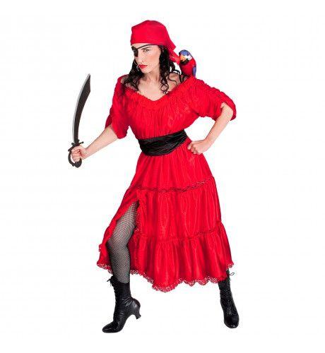 Caraibische Lichtekooi Pirata Kostuum Vrouw