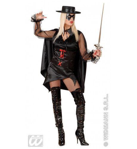Vrouwelijke Bandiet, Sexy Zorros Lady Kostuum