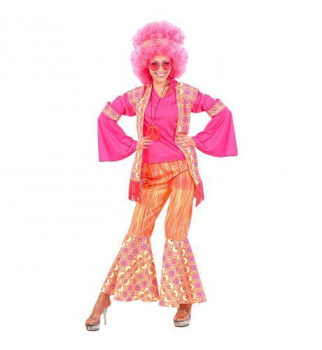 Hippie Dame Ms Pink Kostuum Vrouw