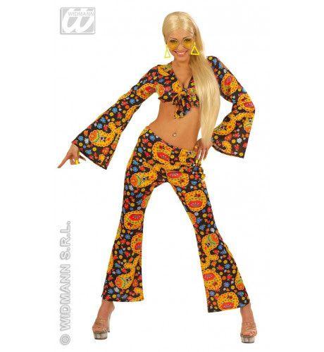Hippe Schoonheid Seventies Rave Kostuum Vrouw