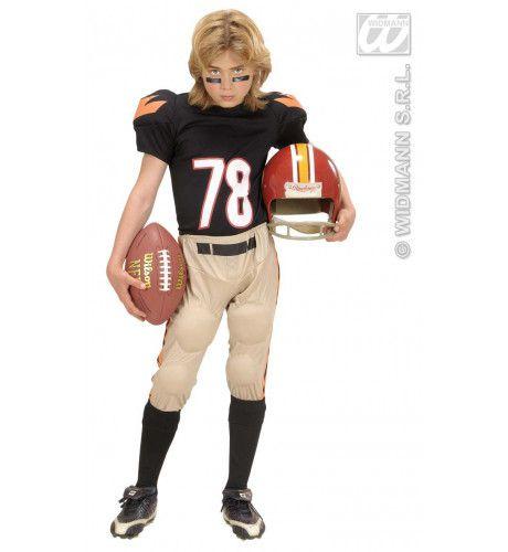 American Football Speler Kind Quarterback Kostuum Jongen