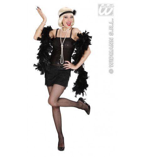 Enchanting Flapper Jurk Zwart Kostuum Vrouw
