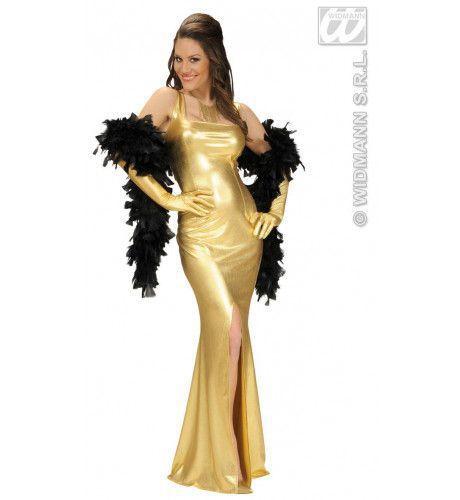 Cocktailjurk Stretch, Goud Elegant Gala Kostuum Vrouw