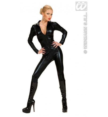 Spannend Catsuit, Zwart Kostuum Vrouw