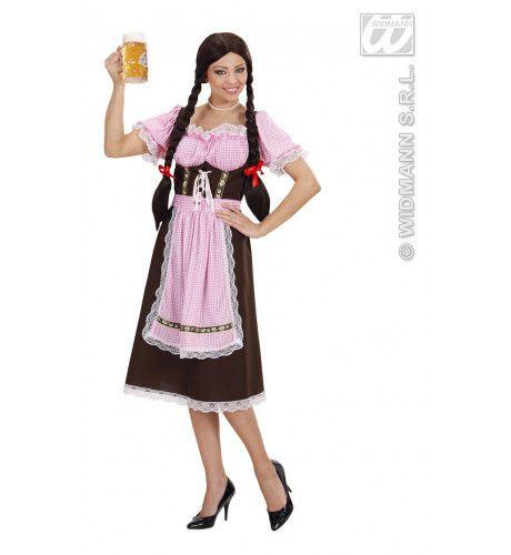 Duits Biermeisje 19e Eeuw Kostuum Vrouw