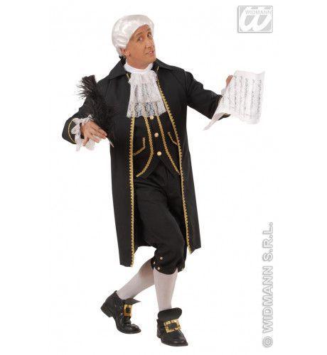 Mozart De Componist Kostuum Man