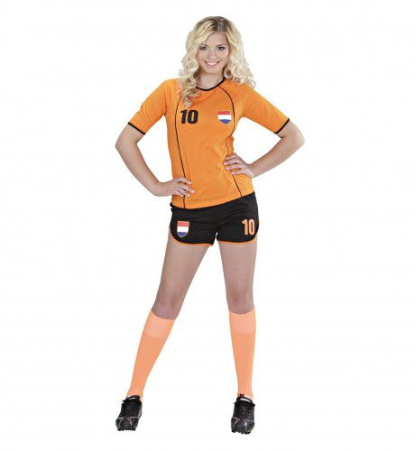 Sexy Voetbal Meisje Nederland Vrouw Kostuum