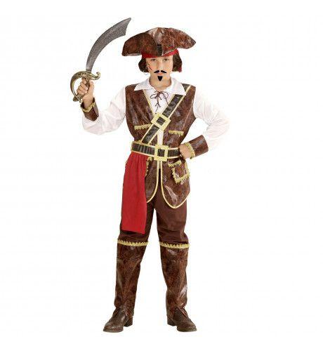 Caribische Piraat Uit De Film Jongen Kostuum