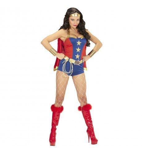 Ms America Super Power Meisje Vrouw Kostuum