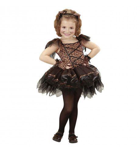 Soepel Dansende Luipaard Ballerina Meisje Kostuum
