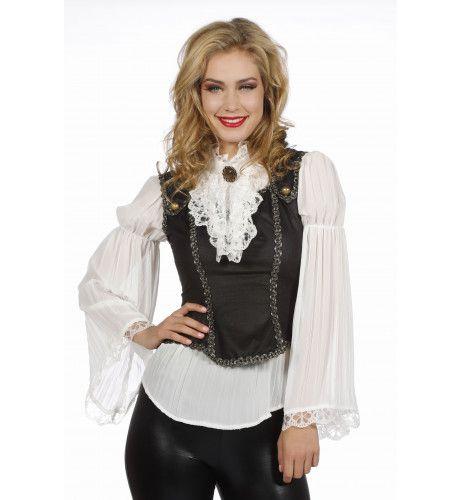 Piraat Duinkerken Blouse Met Gilet Vrouw