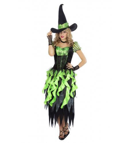 Heks Betoverde Woud Sprookjes Vrouw Kostuum