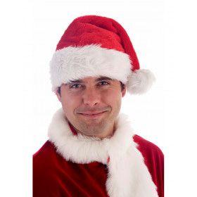 Luxe Fluwelen Kerstman Muts Volwassen