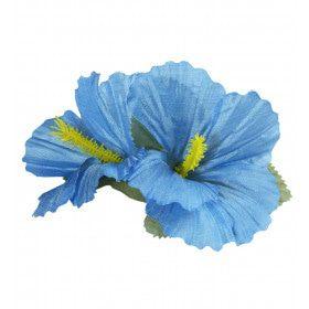 Haarclip Met Hibiscus Bloemen Lichtblauw