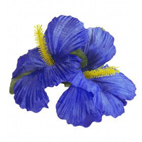 Haarclip Met Hibiscus Bloemen Blauw