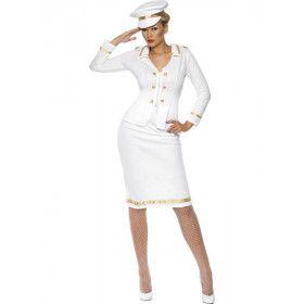 Marine Dame Sexy Vrouw Kostuum