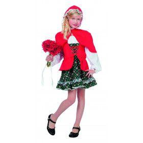 Sprookjesbos Meisje Met Rode Cape (Luxe) Kostuum