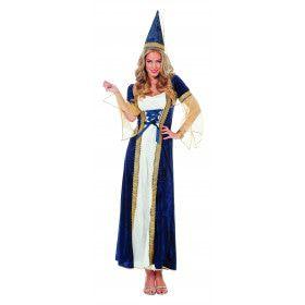 Elegante Koninklijke Burchtdame Vrouw Kostuum