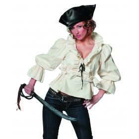 Piratenblouse Ms Driemast Vrouw