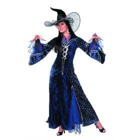 Zwansilla Tovenaarsdame Sterren Blauw Vrouw Kostuum
