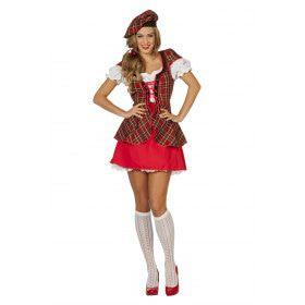 Ms Matey Schotse Kort Vrouw Kostuum
