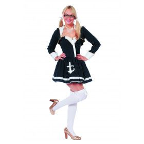 Navy Sailor Lady Ay Ay Captain Vrouw Kostuum