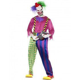 Kleurrijke Killer Clown Man Kostuum