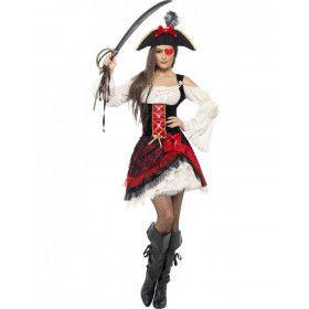 Glamour Pirate Vrouw Kostuum