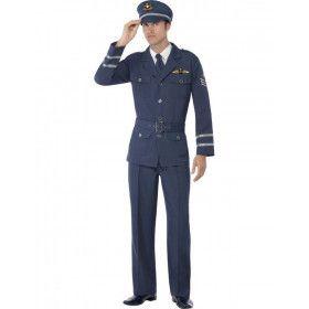 Raf Piloot Man Kostuum