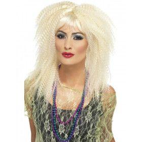 Crimp Pruik Blond