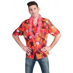 Rood-Bont Hawaii Hemd