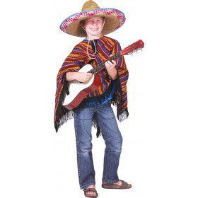 Hola Gringo Poncho Kind Kind Kostuum